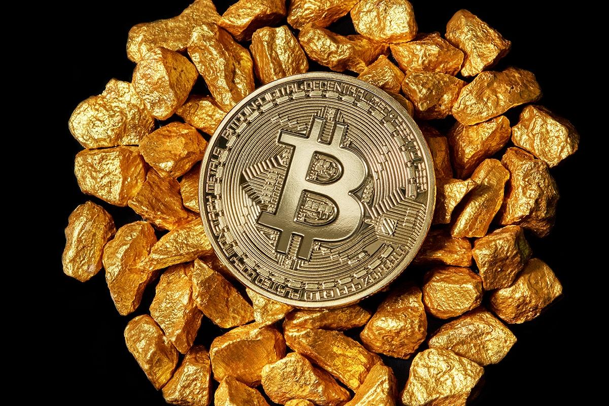 Bitcoin e participação no mercado do ouro