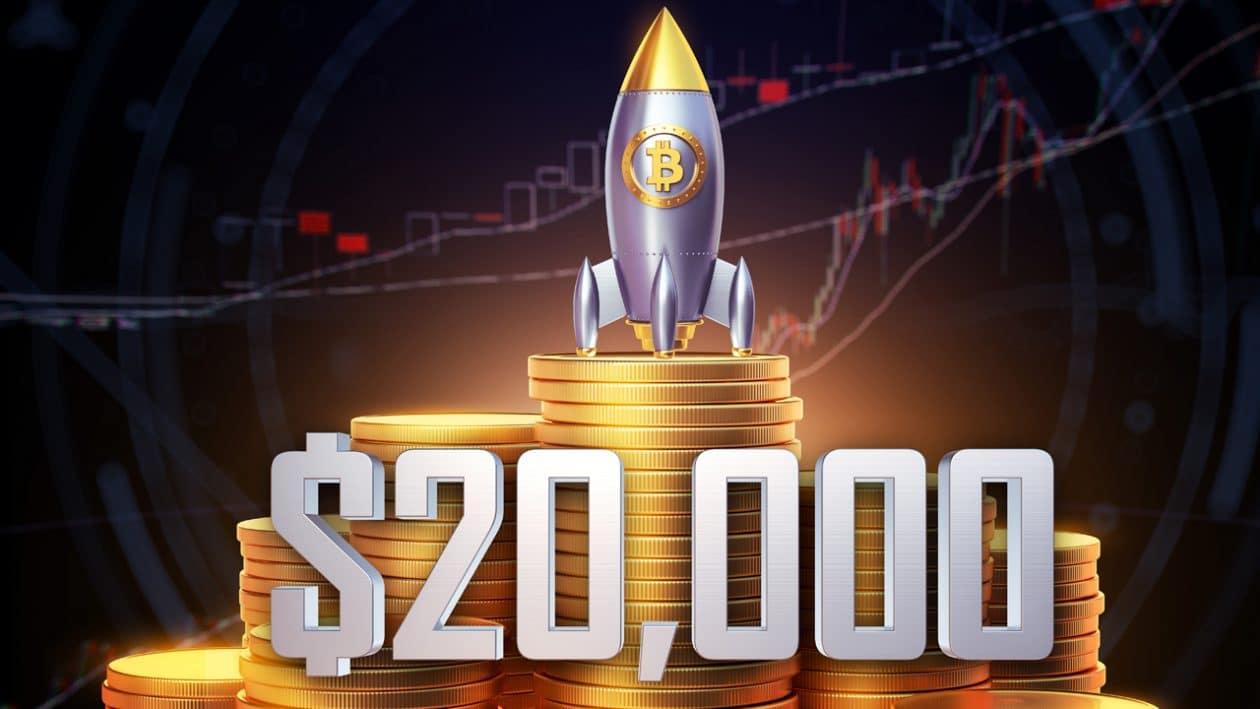 Bitcoin quebra a barreira de US$ 20.000 pela primeira vez na história