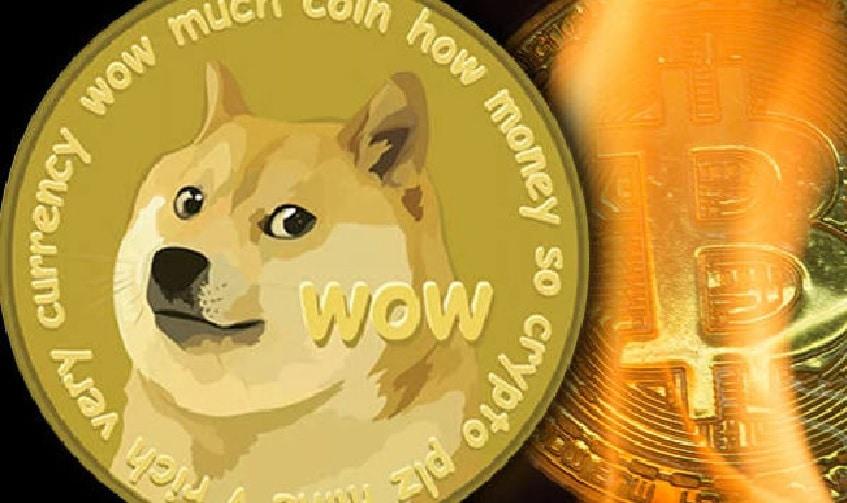 O volume de negociação do Dogecoin atinge US$ 5 bilhões, ultrapassando o do Bitcoin pela primeira vez na história