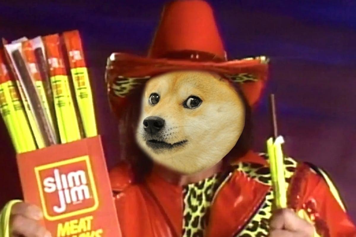 Slim Jim promove a criptomoeda DogeCoin