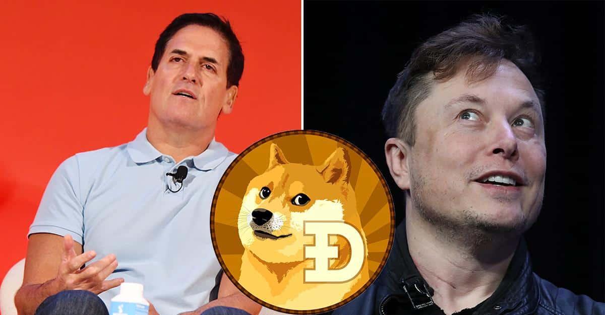O preço do Dogecoin sobe após tweets de Elon Musk e Mark Cuban