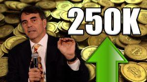 Todos aceitarão o Bitcoin e seu preço chegará a US$ 250 mil em 2022