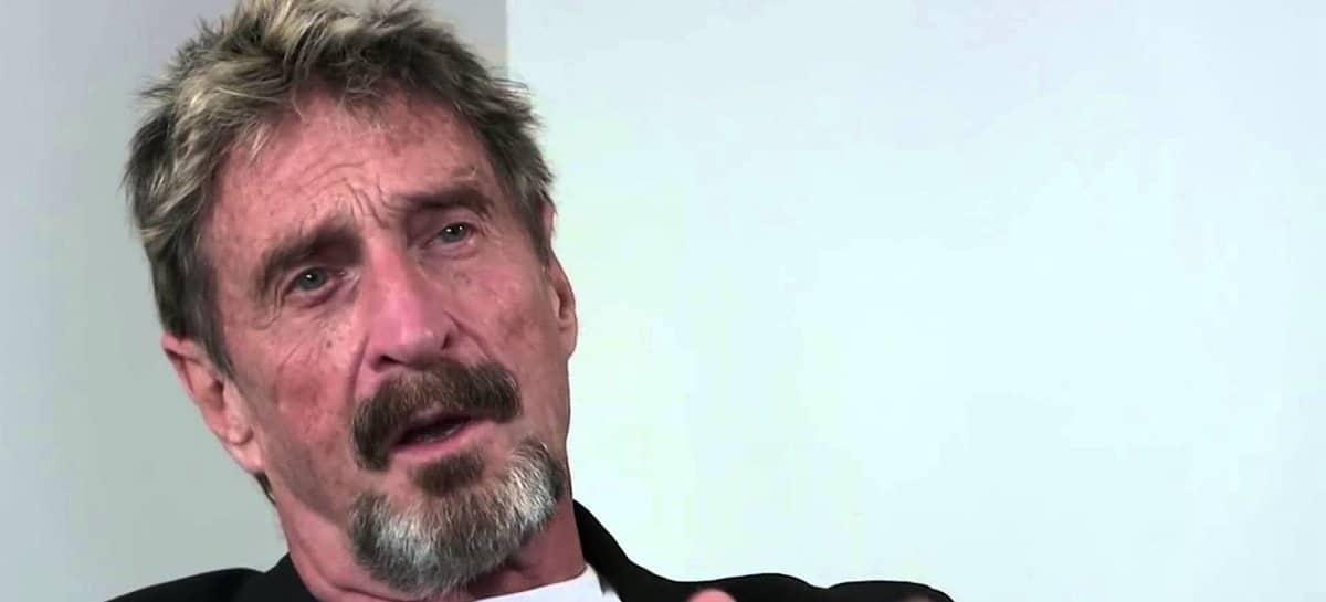 John McAfee encontrado morto na prisão antes da extradição para os EUA