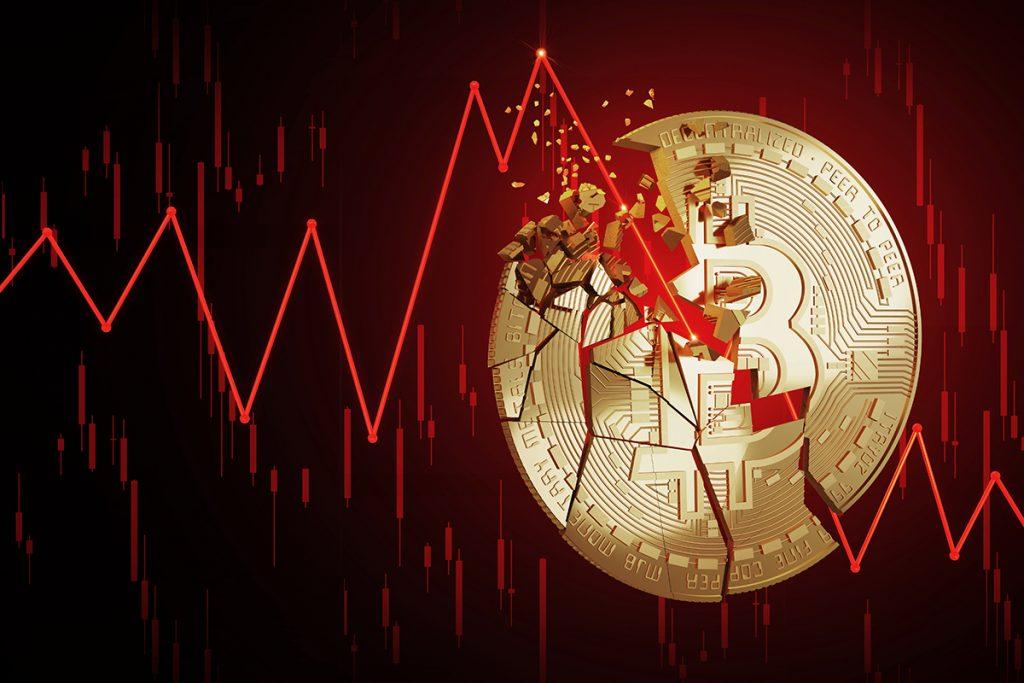 Bitcoin cai abaixo de US$30.000