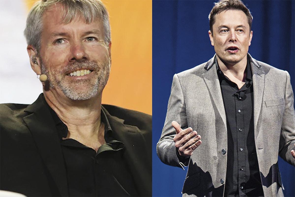 Influência dos tweets de Musk e Saylor nos preços das criptomoedas